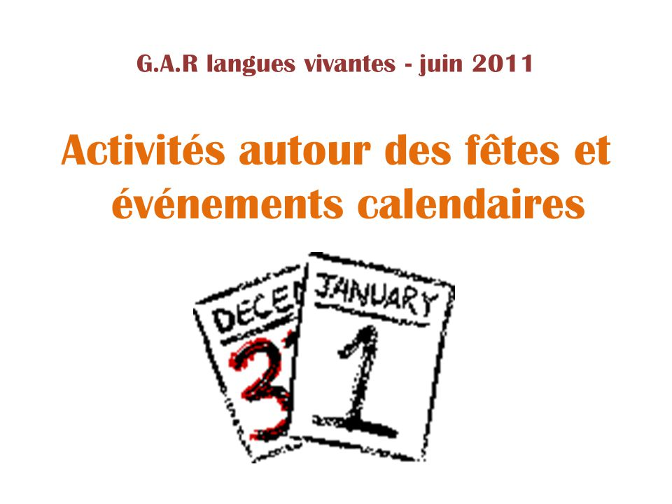 G.A.R langues vivantes - juin 2011