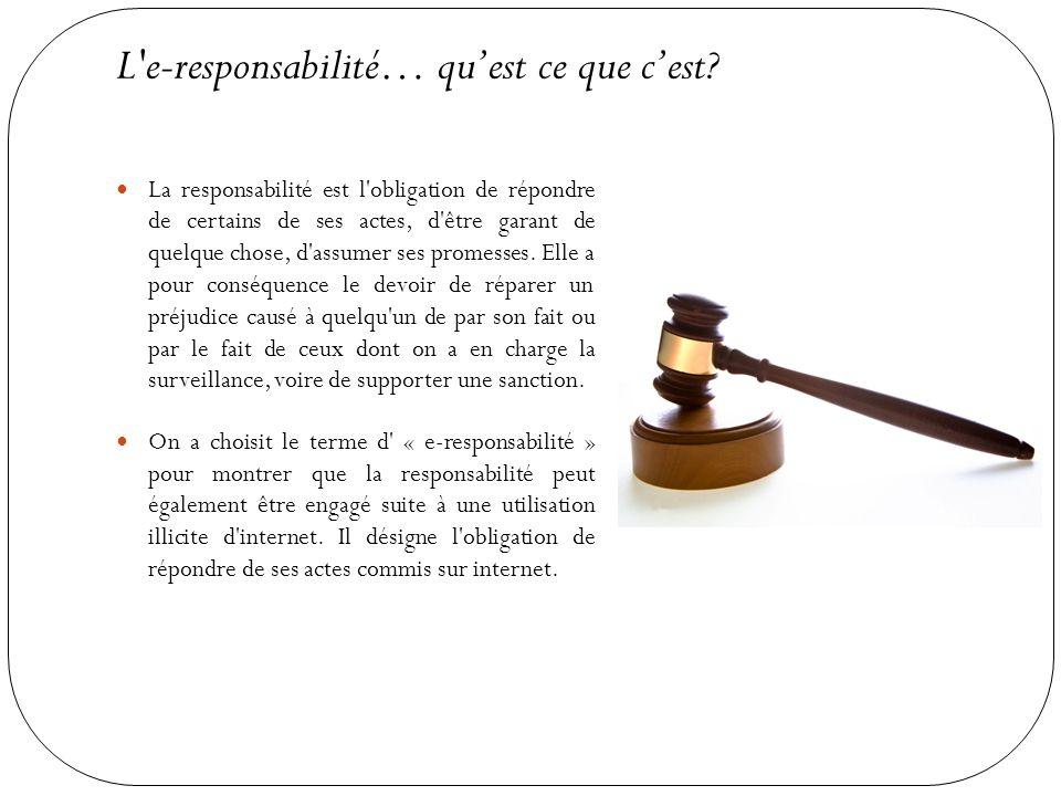 L e-responsabilité… qu'est ce que c'est