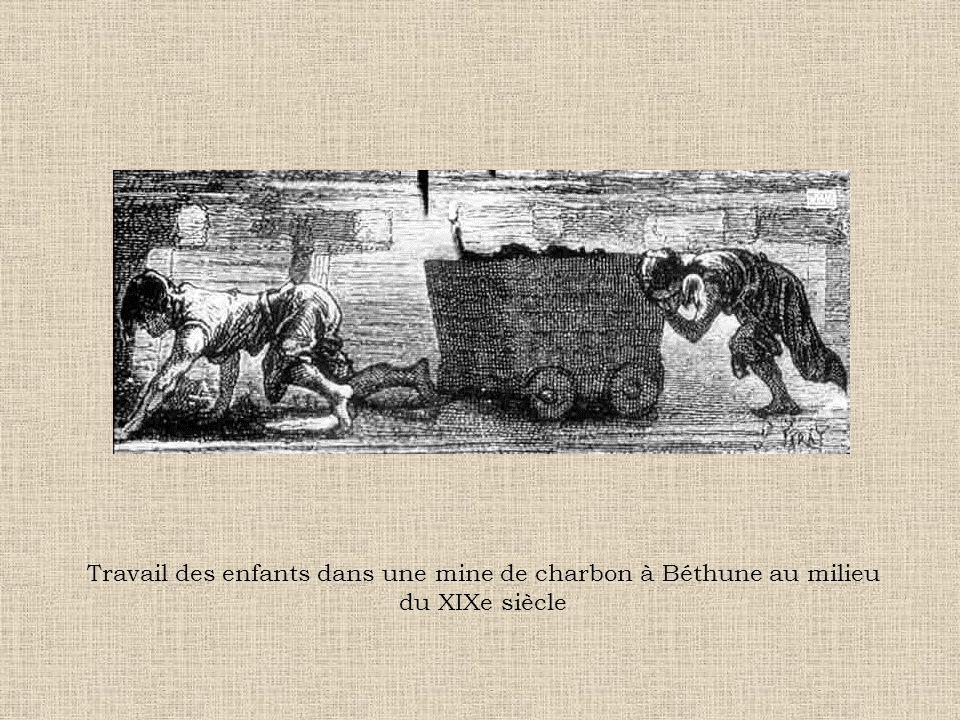 Travail des enfants dans une mine de charbon à Béthune au milieu du XIXe siècle