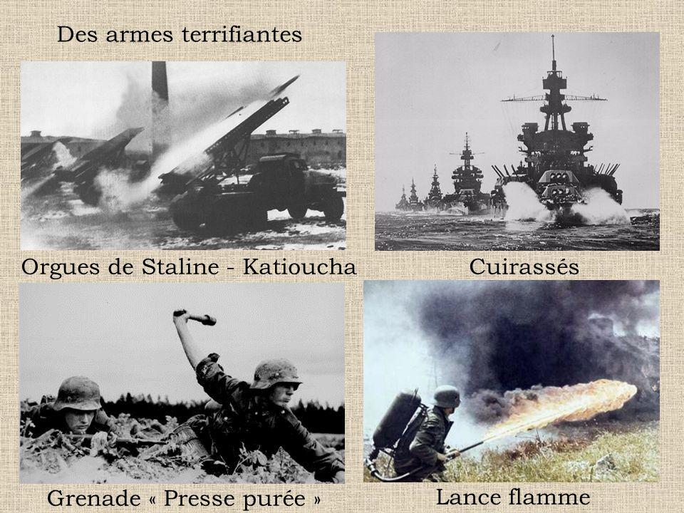 Des armes terrifiantes
