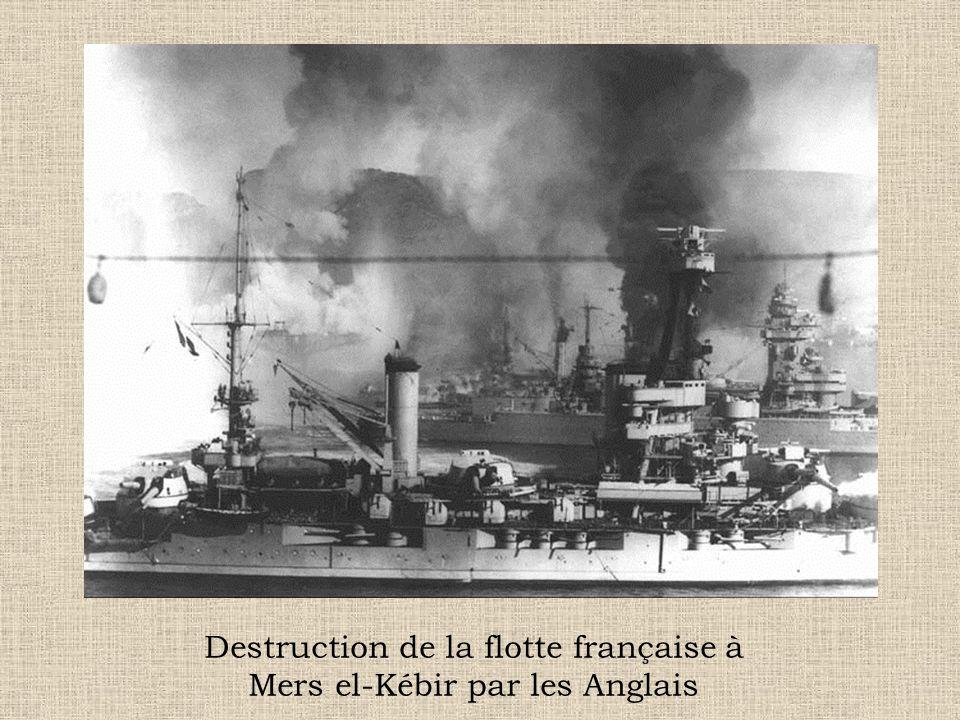 Destruction de la flotte française à Mers el-Kébir par les Anglais