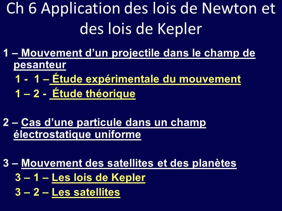 Ch 6 Application des lois de Newton et des lois de Kepler