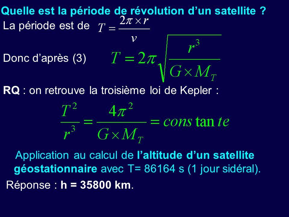 - Quelle est la période de révolution d'un satellite