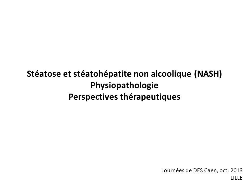 Stéatose et stéatohépatite non alcoolique (NASH) Physiopathologie
