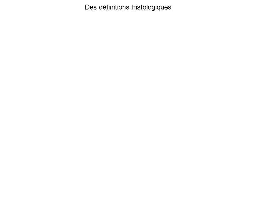 Des définitions histologiques