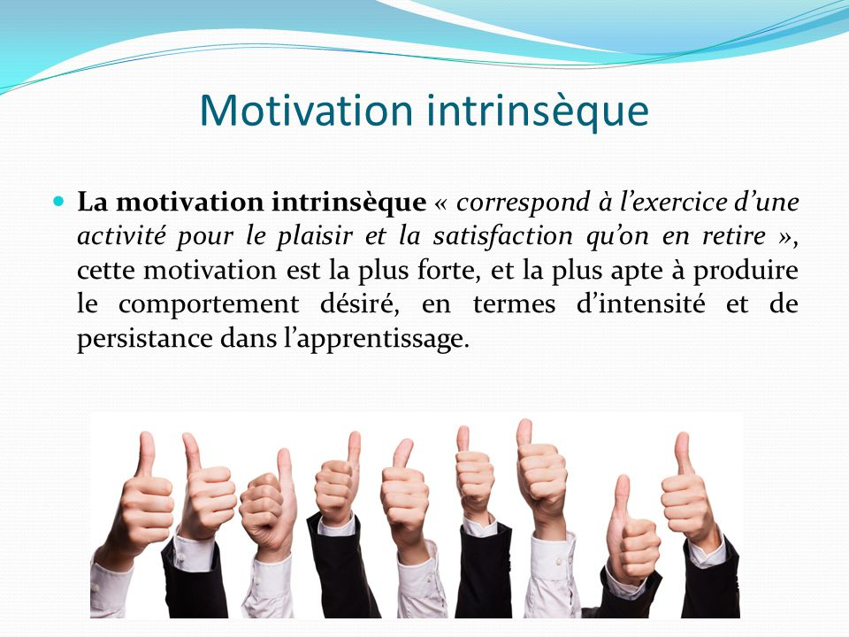 Motivation intrinsèque