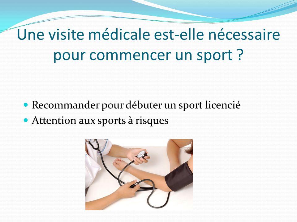 Une visite médicale est-elle nécessaire pour commencer un sport