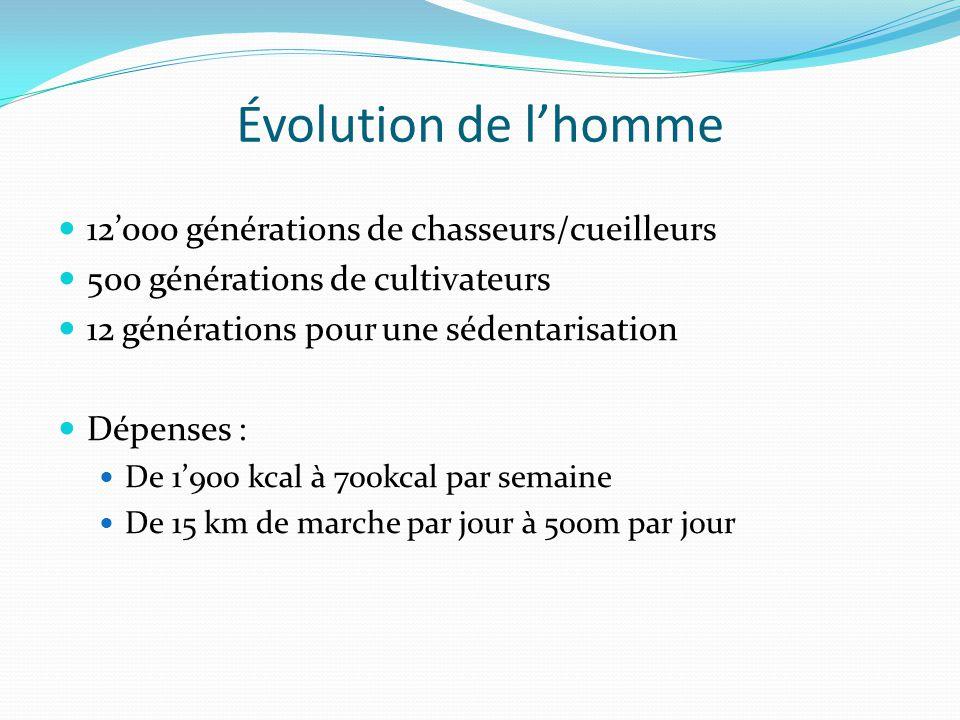 Évolution de l'homme 12'000 générations de chasseurs/cueilleurs