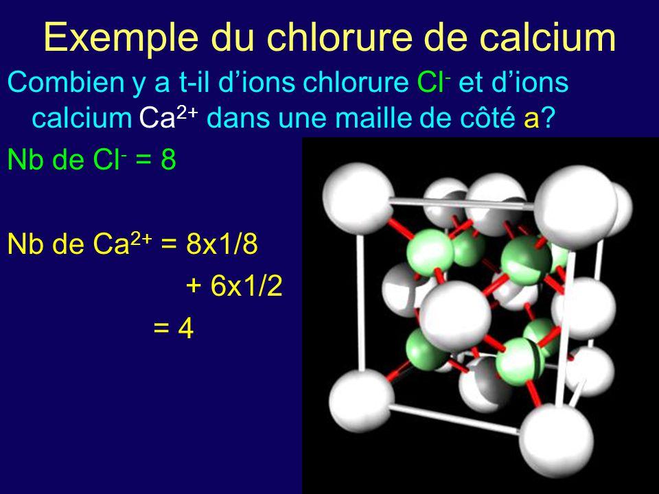 Exemple du chlorure de calcium