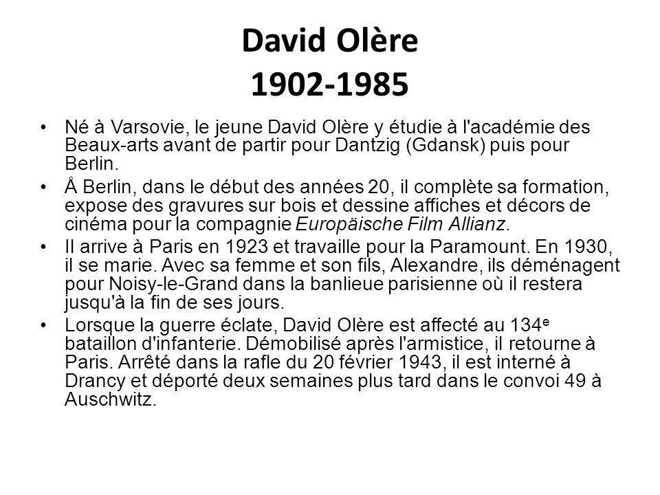 David Olère 1902-1985