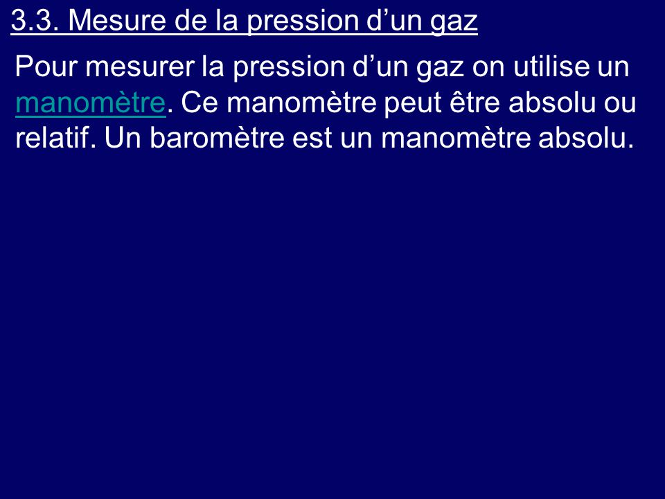 3.3. Mesure de la pression d'un gaz