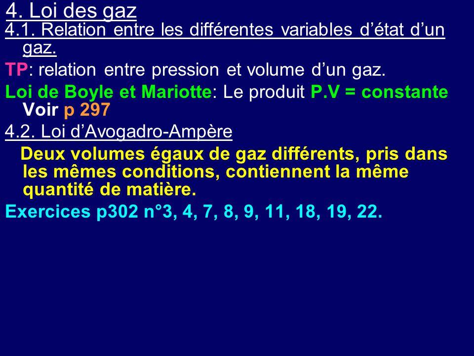 4. Loi des gaz 4.1. Relation entre les différentes variables d'état d'un gaz. TP: relation entre pression et volume d'un gaz.