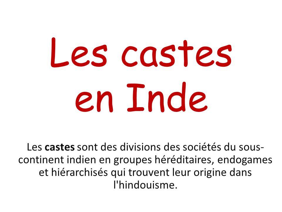 Les castes en Inde