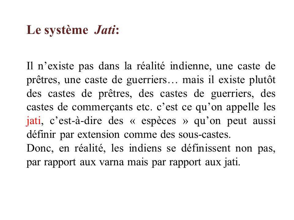 Le système Jati:
