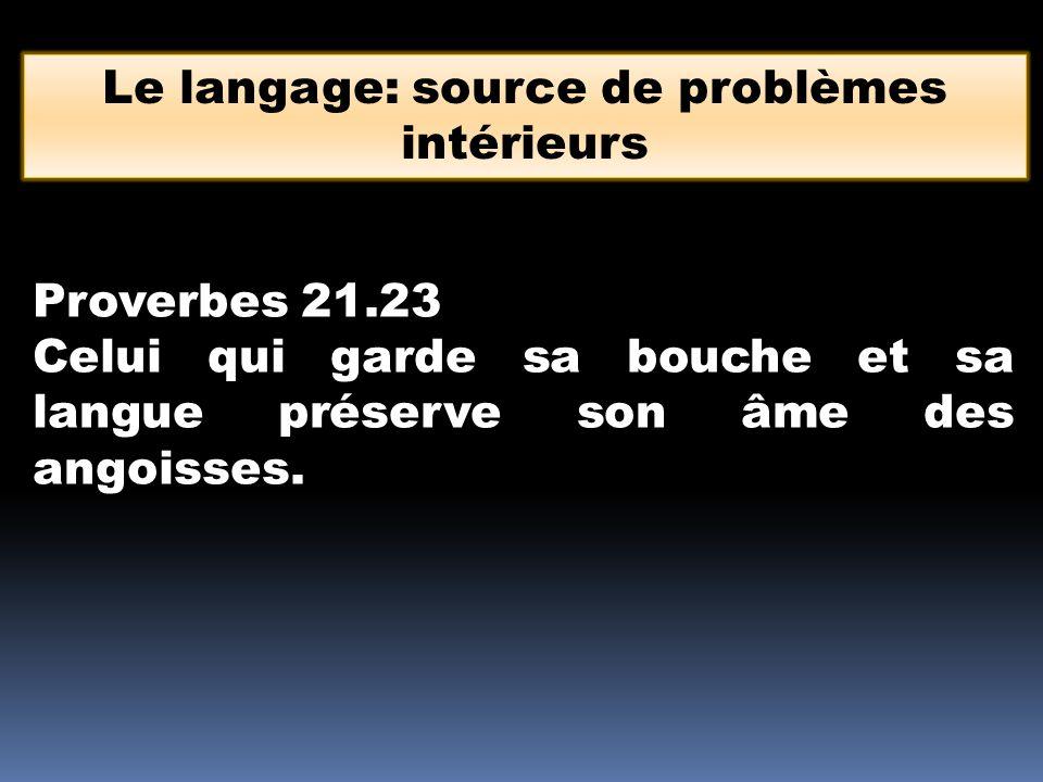 Le langage: source de problèmes intérieurs