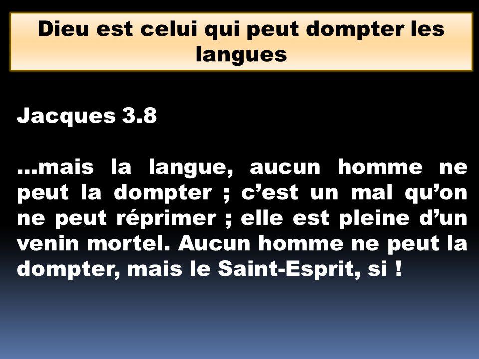 Dieu est celui qui peut dompter les langues