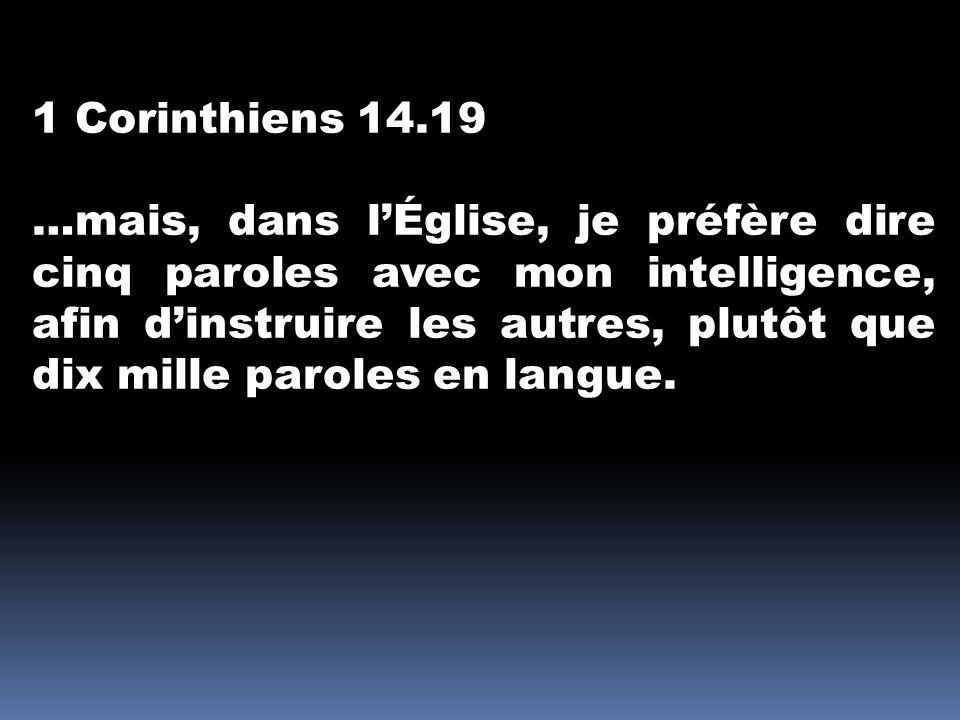 1 Corinthiens 14.19