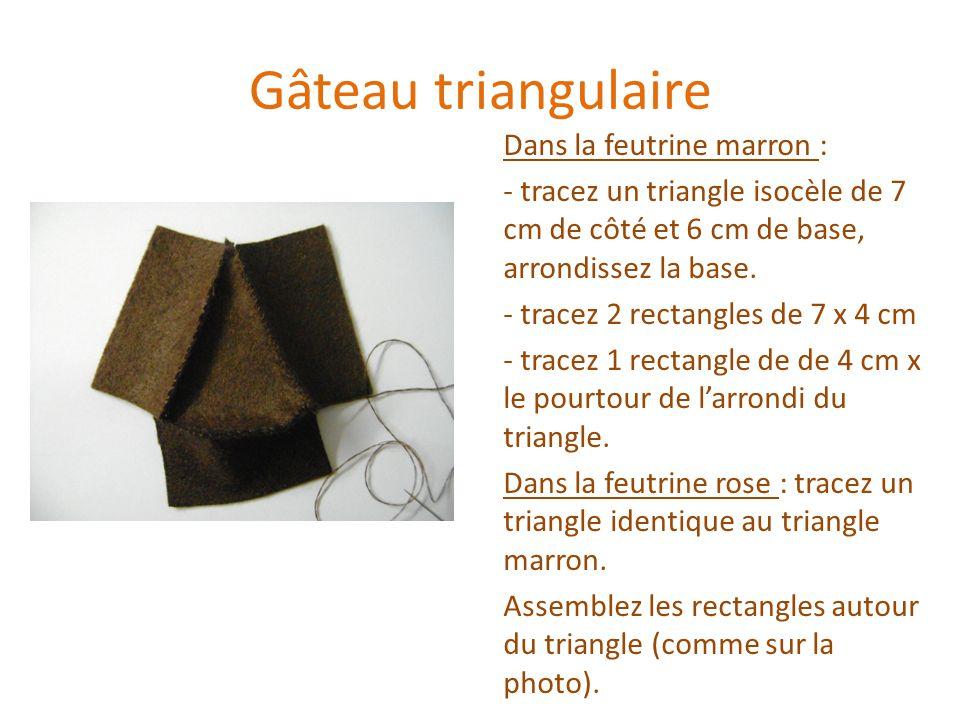 Gâteau triangulaire