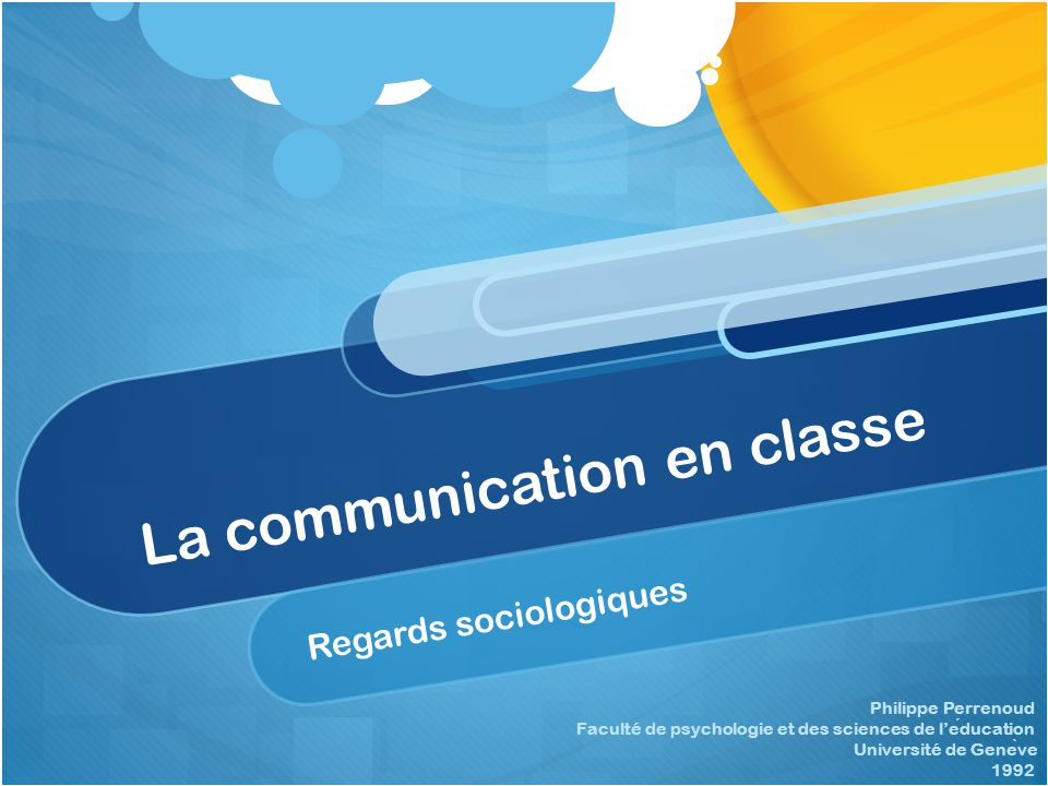 La communication en classe