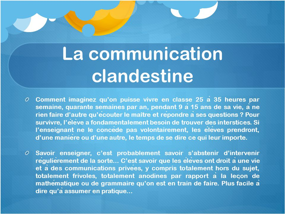 La communication clandestine