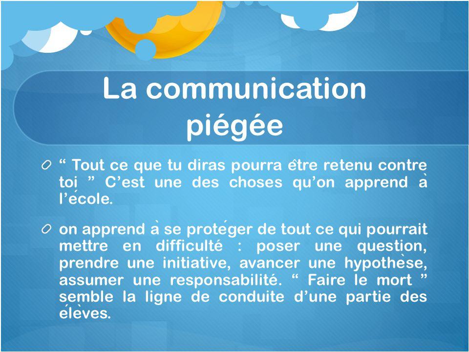 La communication piégée