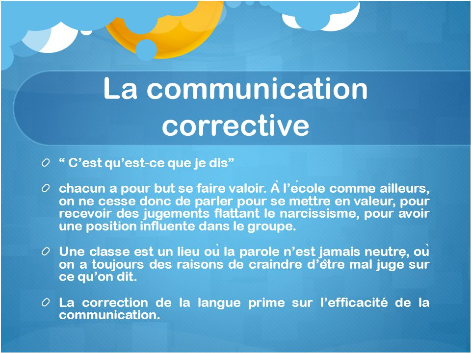 La communication corrective