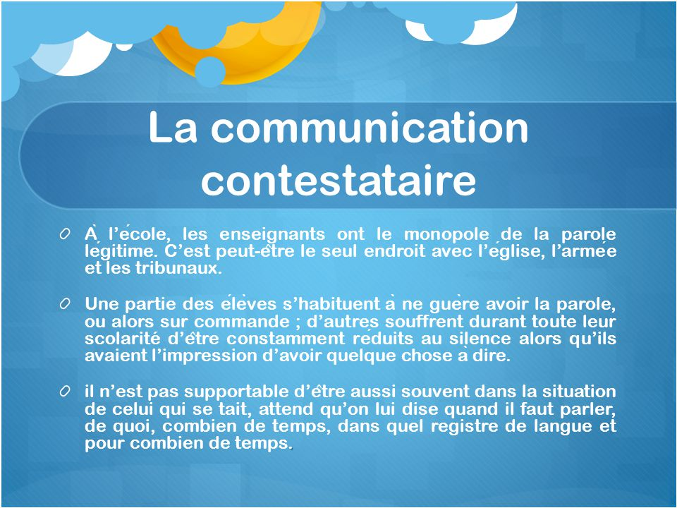 La communication contestataire