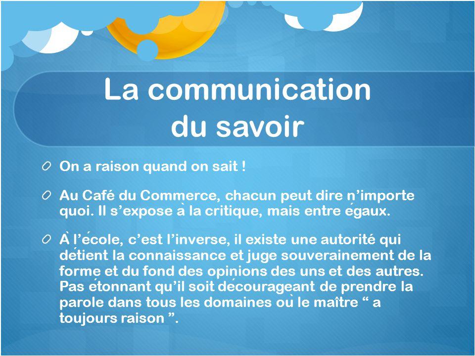 La communication du savoir