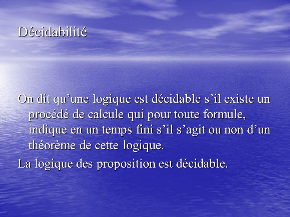 Décidabilité