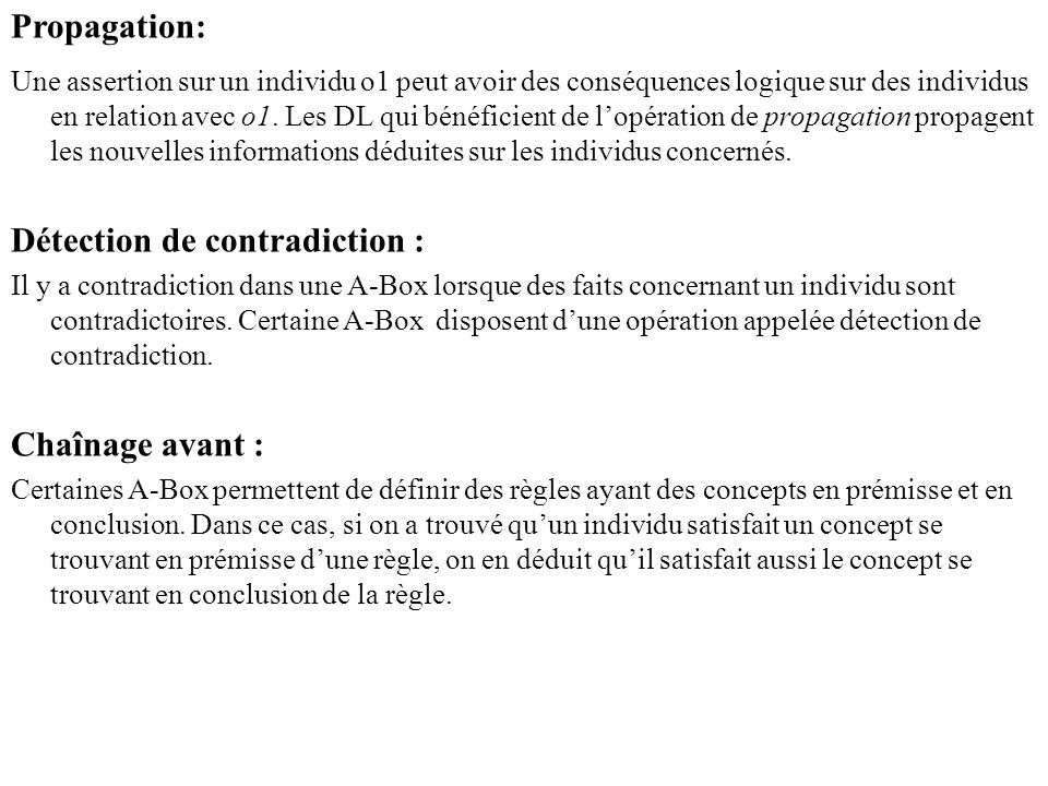 Détection de contradiction :