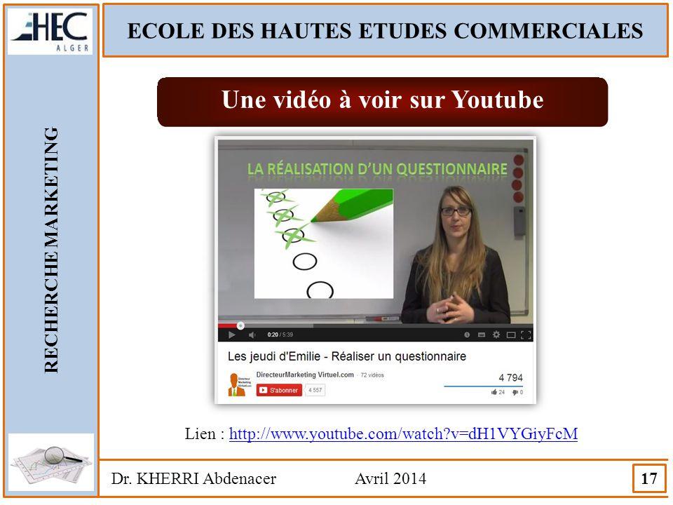 ECOLE DES HAUTES ETUDES COMMERCIALES Une vidéo à voir sur Youtube