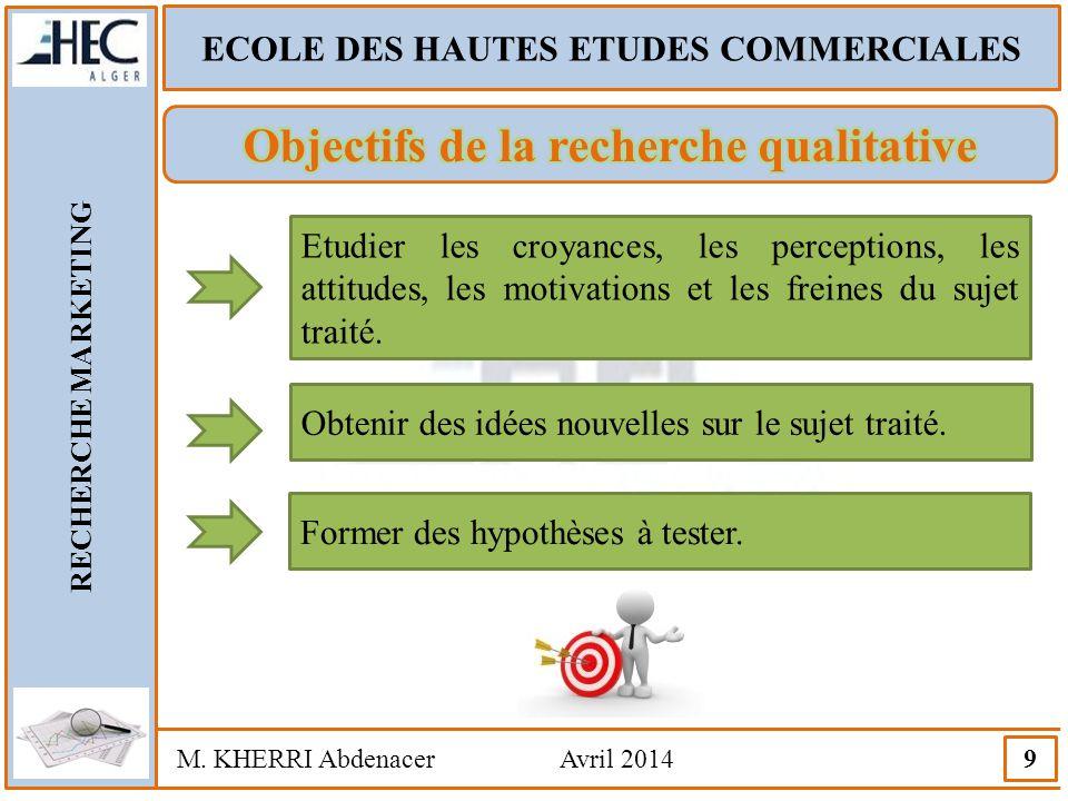 Objectifs de la recherche qualitative