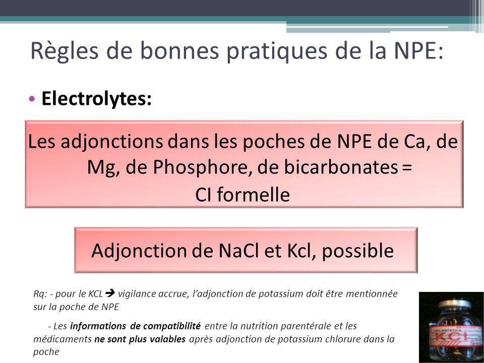 Règles de bonnes pratiques de la NPE: