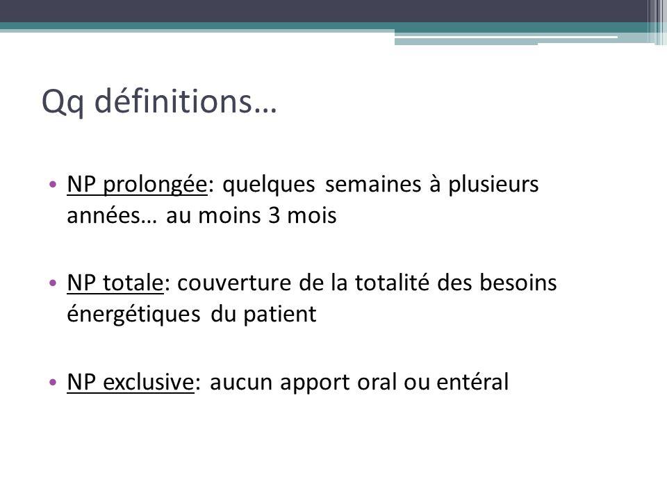 Qq définitions… NP prolongée: quelques semaines à plusieurs années… au moins 3 mois.