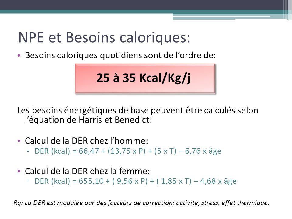 NPE et Besoins caloriques: