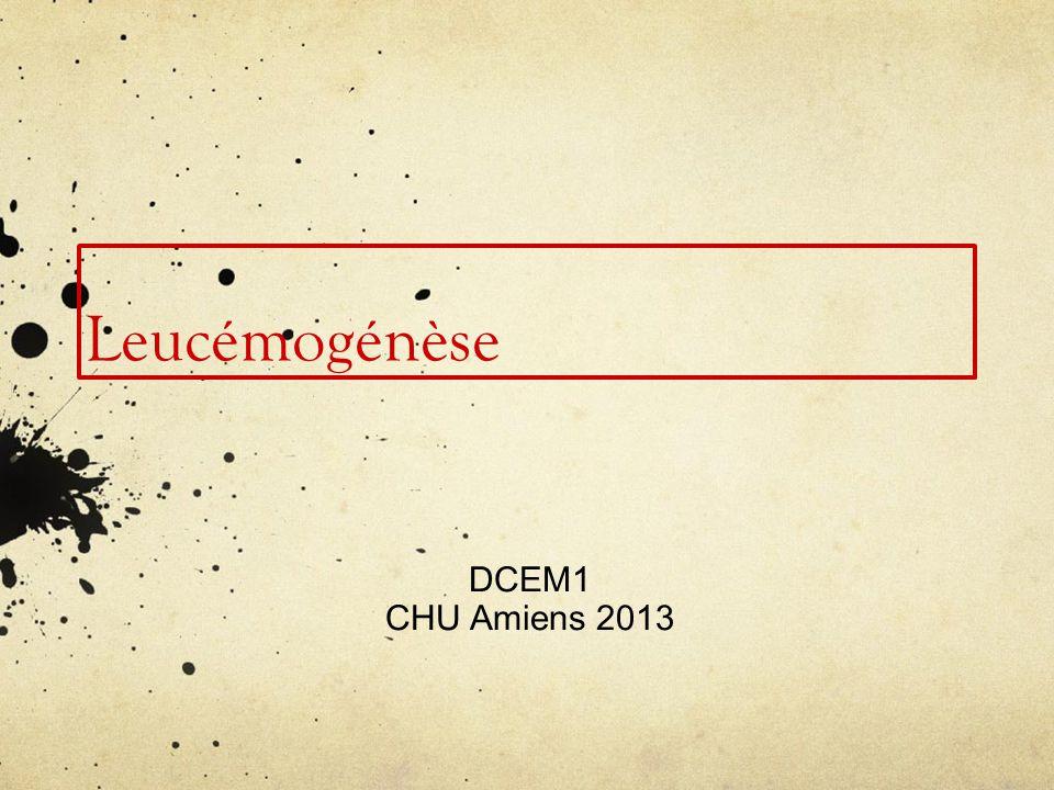 Leucémogénèse DCEM1 CHU Amiens 2013