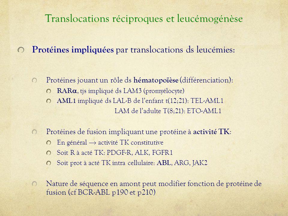 Translocations réciproques et leucémogénèse