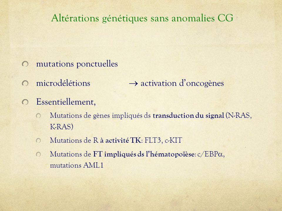 Altérations génétiques sans anomalies CG
