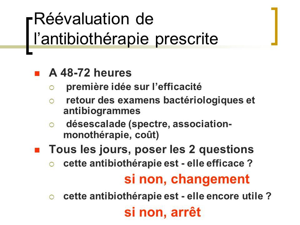Réévaluation de l'antibiothérapie prescrite