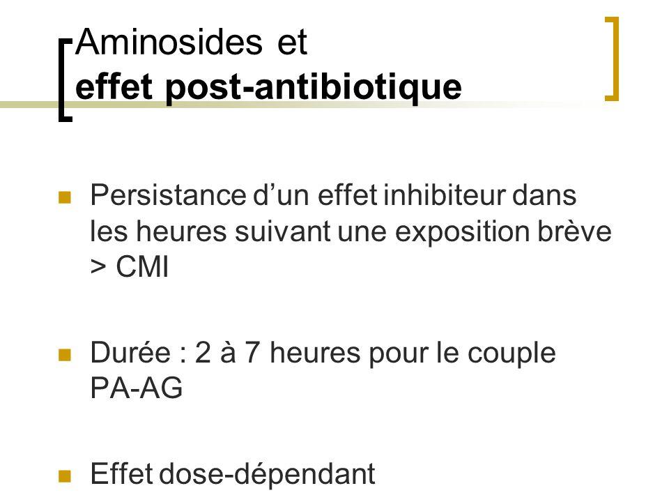 Aminosides et effet post-antibiotique