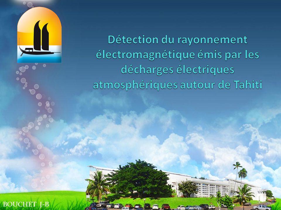Détection du rayonnement électromagnétique émis par les décharges électriques atmosphériques autour de Tahiti