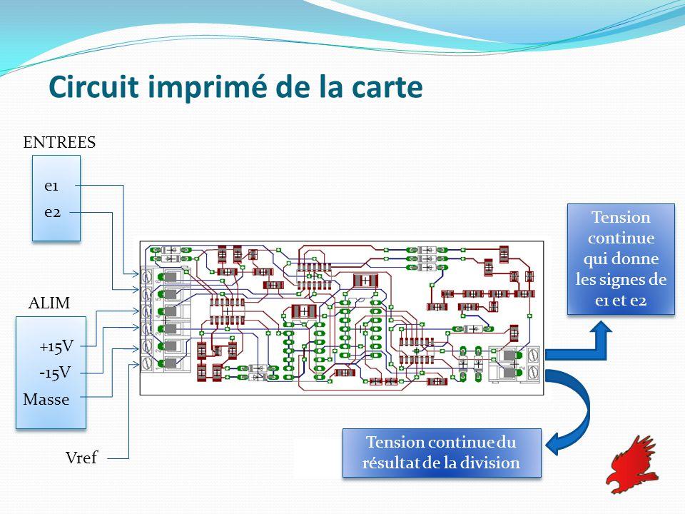 Circuit imprimé de la carte