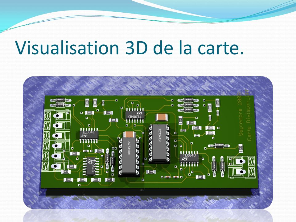 Visualisation 3D de la carte.