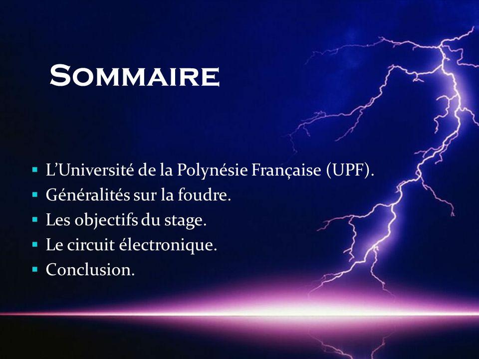Sommaire L'Université de la Polynésie Française (UPF).
