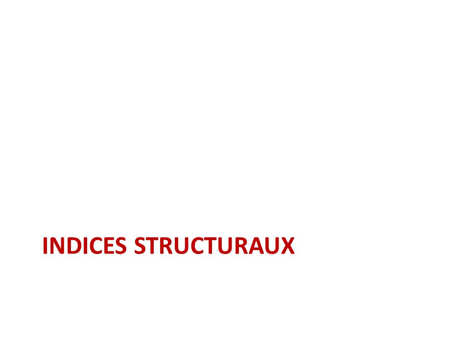 Indices structuraux