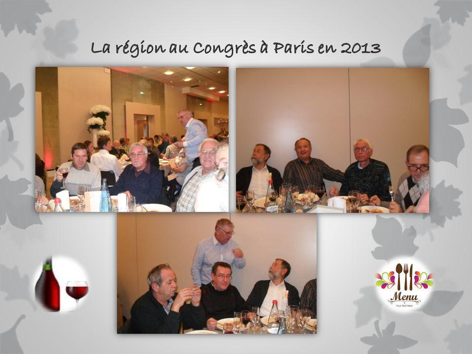 La région au Congrès à Paris en 2013