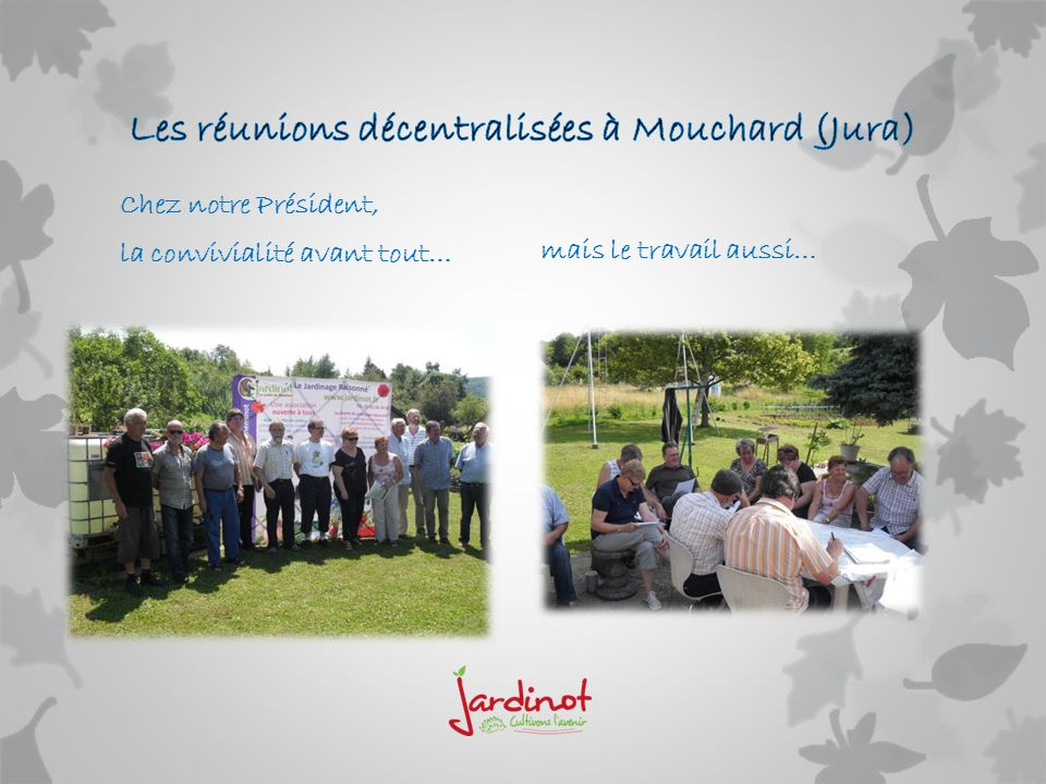 Les réunions décentralisées à Mouchard (Jura)