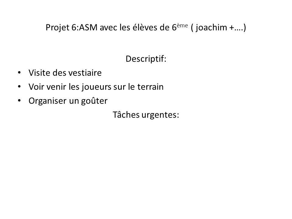 Projet 6:ASM avec les élèves de 6ème ( joachim +….)