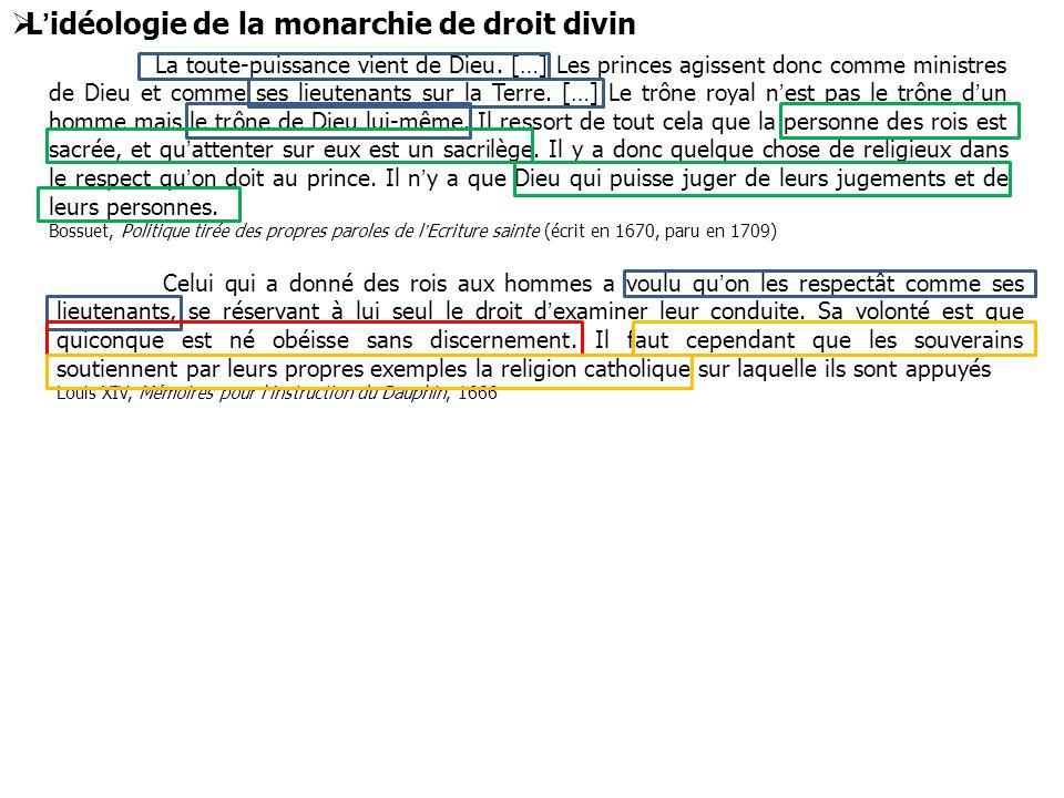 L'idéologie de la monarchie de droit divin