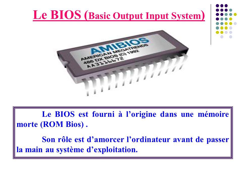 Le BIOS (Basic Output Input System)